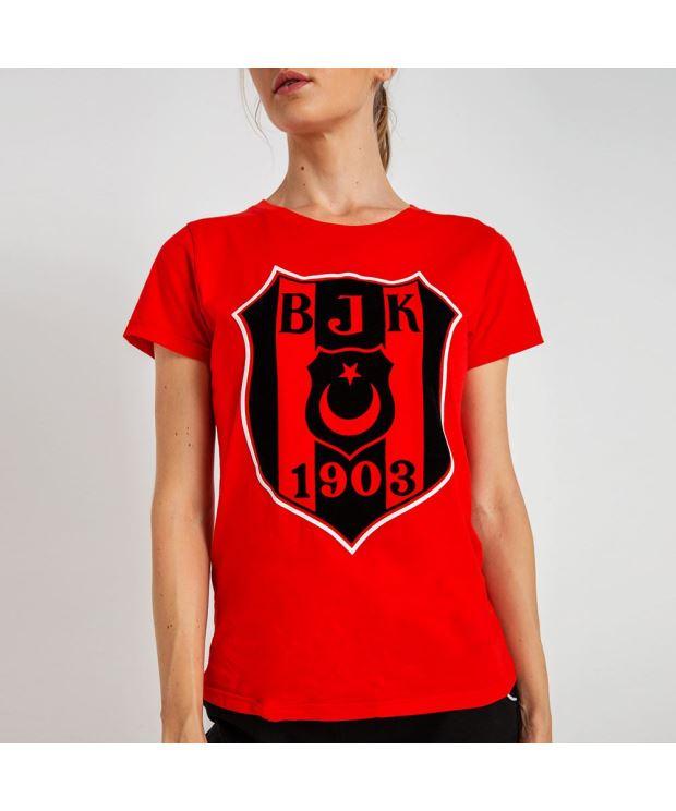 BEŞİKTAŞ 3D FLOCK LOGO KADIN T-SHIRT 8819102