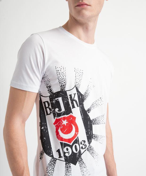 BEŞİKTAŞ DIAGONAL GÜNEŞ LOGO ERKEK T-SHIRT 7919112