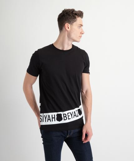 BEŞİKTAŞ BLACK WHITE RING MENS T-SHIRT 7919139