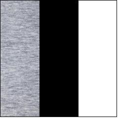 Grey Melange - Black - White